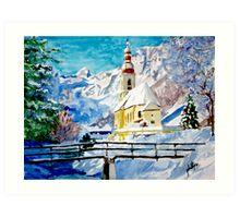 Ramsau Parish in Berchtesgaden, Germany Art Print
