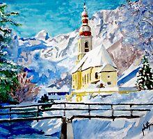 Ramsau Parish in Berchtesgaden, Germany by Jim Phillips