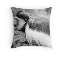 Monkey BW Throw Pillow