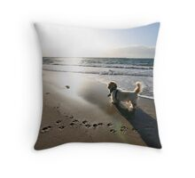 Pondering the meaning of life Throw Pillow