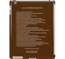 I Am A Baby Boomer and Proud Of It - Word Art iPad Case/Skin