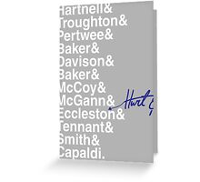 DOCTOR WHO THE DOCTORS' NAMES Greeting Card