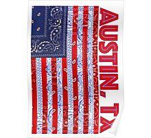 Austin, TX USA - Flagdana Poster
