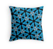 Sky blue, geometric pattern, gifts, decor Throw Pillow