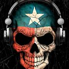 Dj Skull with Texas Flag by Jeff Bartels