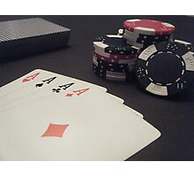 Lucky Aces Photographic Print