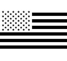 Black and White USA Flag Photographic Print