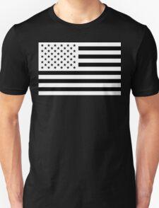 Black and White USA Flag T-Shirt