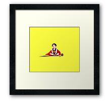 SuperBaby - Stencil Framed Print