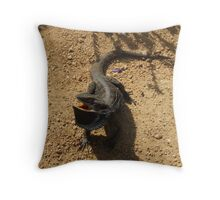 Angry Frill neck Throw Pillow