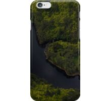 Winding river lower North Island New Zealand iPhone Case/Skin