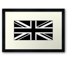 Black and White UK Flag Framed Print