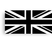 Black and White UK Flag Canvas Print
