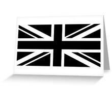 Black and White UK Flag Greeting Card