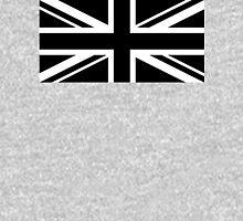 Black and White UK Flag Unisex T-Shirt