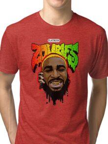 FLATBUSH ZOMBIES HEAD OFF Tri-blend T-Shirt