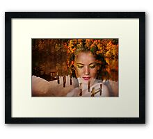 The Lady of lake Framed Print