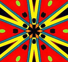 Colorful Starburst by cindywilsonart