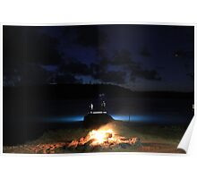 Campfire at Last Light, Albany Island, Cape York, Australia Poster