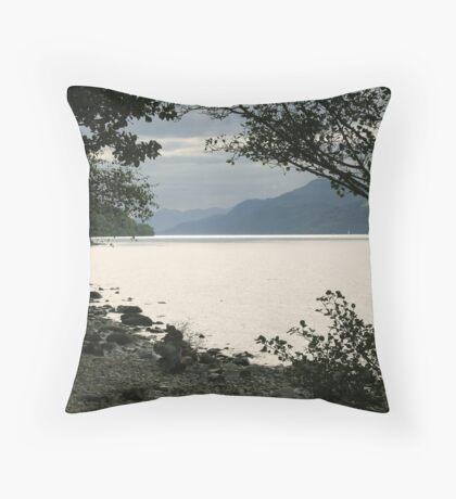 Loch Ness Dreaming Throw Pillow