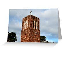 Frankston City St Paul Church Tower Greeting Card