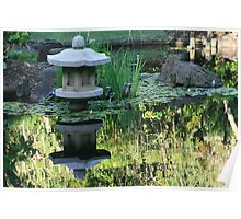 Reflections in a Japanese Garden Poster