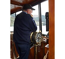 At the Helm Photographic Print