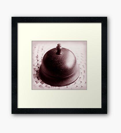 ring my bell ... Framed Print