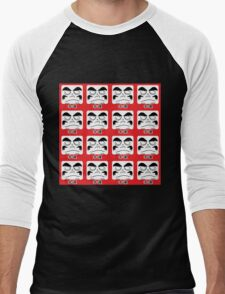 Daruma Tee - Multitasking Squares Men's Baseball ¾ T-Shirt