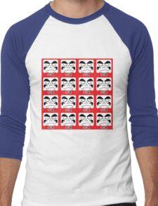 Daruma Tee - Multitasking Squares Men's Baseball ¾ T-Shirt