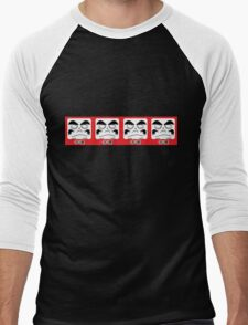 Daruma Tee - Square Row Men's Baseball ¾ T-Shirt