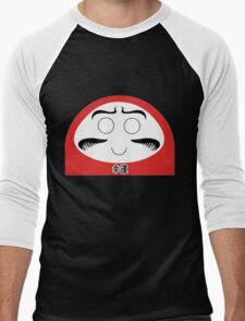 Daruma Tee - Simple Men's Baseball ¾ T-Shirt