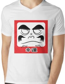 Daruma Tee - Square Mens V-Neck T-Shirt