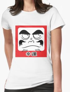 Daruma Tee - Square Womens Fitted T-Shirt