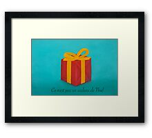 This is not Christmas present (its a Christmas card) Framed Print