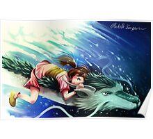 Spirited Away, Haku and Chihiro Poster