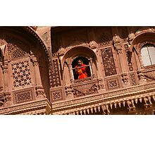 Palace windows in Rajasthan Photographic Print