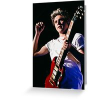 Niall with Guitar Greeting Card