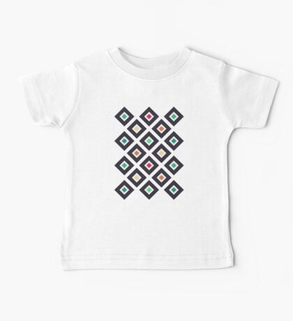Modern Trendy Geometric Patter in Fresh Vintage Coffee Style Colors Kids Clothes