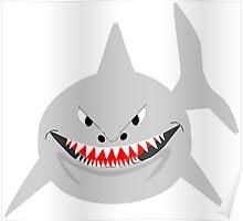 Smiling Shark Design Poster
