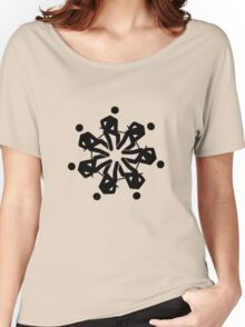 Man flower / snowflake Women's Relaxed Fit T-Shirt