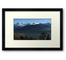Above Interlaken, Switzerland Framed Print