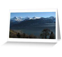 Above Interlaken, Switzerland Greeting Card
