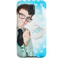 Romantic male dork offering coffee LOVE to date Samsung Galaxy Case/Skin