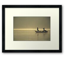 Friends Fishing Framed Print
