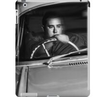 Mobster driving getaway vehicle during car chase iPad Case/Skin