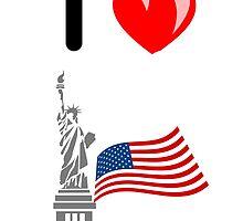 I LOVE USA (NEW YORK) by leonchristo