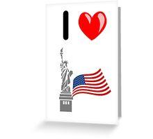 I LOVE USA (NEW YORK) Greeting Card