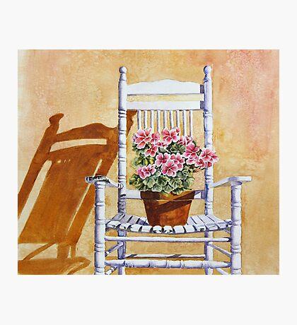 Grandma's Old Chair Photographic Print