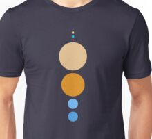 Planets To Scale (vertical) Unisex T-Shirt